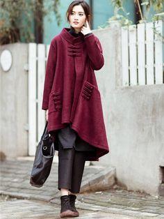 Retro Loose Wool Coat – Buykud