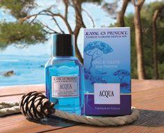 Acqua, le nouveau parfum de Jeanne en Provence #Concours Jeanne En Provence, Vodka Bottle, Shampoo, Personal Care, Drinks, Fragrance, Spaces, Luxury, Eau De Toilette