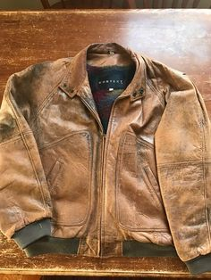 Schott Brown Leather A-2 Bomber Jacket Men's Size 40. | Outerwear ...