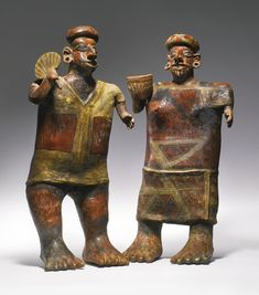 Large Nayarit Standing Couple, Ixtlán del Río style Protoclassic, ca. 100 B.C.-A.D. 250 (mexico)