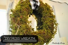 diy moss wreath a cure for the winter blues, crafts, home decor, wreaths Vintage Christmas Ornaments, Christmas Diy, Christmas Wreaths, Christmas Decorations, Xmas, Moss Wreath, Diy Wreath, Wreath Ideas, Mason Jar Candles