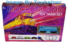 Rock Island Battery Operated Toy Train Set NIB Vintage  #ROCKISLAND #TrainSet