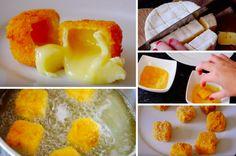 Des boulettes panées de camembert fondant !