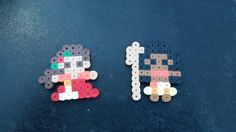 Handmade Disney's Moana and Elena perler bead Chibis /