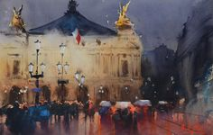 """Alvaro Castagnet. """"Opera House in Paris"""", fabulous painter!"""