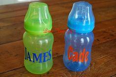 Baby Bottle Personalized by limetreegifts on Etsy