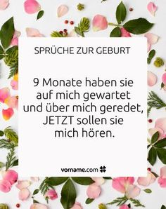 Schöne Sprüche zur Geburt Here you will find the most beautiful sayings for new parents or relatives and friends who want to give the baby their best wishes for the birth on the way. Mom And Baby, Baby Love, Pregnancy Plus, Most Beautiful Words, Pregnancy Journal, Baby Family, More Than Words, New Parents, Newborn Photos