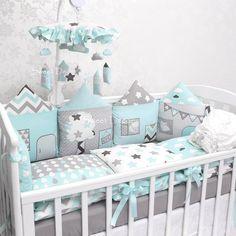 Sweet Decor4u - ткани, бортики, конверты, одеяла Baby Boy Room Decor, Baby Bedroom, Baby Boy Rooms, Baby Cribs, Nursery Room, Nursery Decor, Baby Bedding Sets, Baby Pillows, Creative Kids Rooms