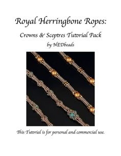 Royal Herringbone Ropes  Twin Tutorials for two by NEDbeads