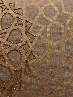 """GEOMETRY"" GILDED STAR PILLOW {This would be excellent on a head board Nailhead trim not beads}"