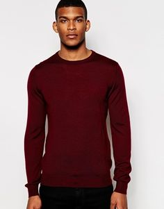 Reiss Merino Wool Crew Neck Knitted Jumper £80.00