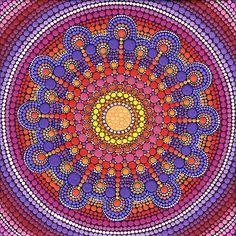 Jewel Drop Mandala by Elspeth McLean.