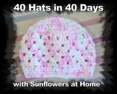 40 free patterns for crocheted baby hats