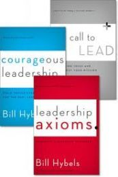 HYBELS LEADERSHIP 3 PACK by BILL HYBELS. This pack includes three fantastic books by Bill Hybels and others that focus on leadership, including Courageous Leadership, Leadership Axioms, and The Call to Lead. Available from CUM Books.