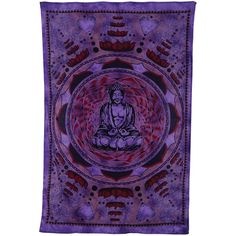 Lotus Buddha Bohemian Tapestry, Wall Hanging, and Bedspread (Medium,... ($24) ❤ liked on Polyvore featuring home, home decor, wall art, purple home accessories, heart wall art, boho style home decor, buddha wall art and boho home decor