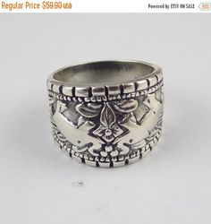 ThanksGiving Sale 1 Pcs Lovely Elephant Floral Design Ring 925 Sterling Silver High Polished Black Oxidize Handmade Unique Vintage Silver Ri by UGCHONGKONG on Etsy