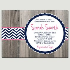 Rustic Wood Baby Shower Invitation, Baby Shower Invite, BOY, Girl, Gray, Yellow, Pink, wood, rustic, girl, digital, printable. $20.00, via Etsy.-exactly what I had in mind!