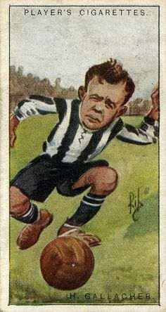 Hugh Gallacher of Newcastle Utd in Football Cards, Football Players, Newcastle United Football, Bristol Rovers, St James' Park, Everton Fc, Football Pictures, Old Photographs, Old Postcards