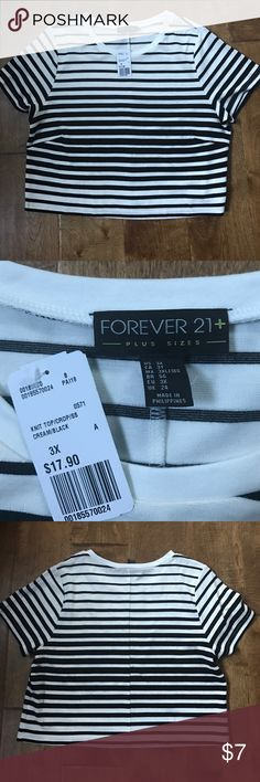 ‼️Clearance Deal Bundle‼️ Forever 21 Black and White Striped Crop Top is Size 3x. Second shirt is from Gap with a black and white floral photograph in the size XXL. Both soft and great for layering! PacSun star Necklace and Brown Arrow Wallet. Forever 21 Tops Crop Tops