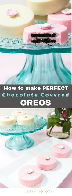 You will obsess over these chocolate covered oreos, I promise you! They have the right amount of crunch inside with silky REAL chocolate outside. This is the only way to make these. Easy and delicious oreo cookies. No bake! #cookies #oreos #nobake #recipe via @tinselbox_