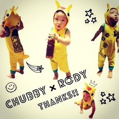 Instagram media ayanatokaiji - お友達から頂いたかわいい洋服♡早く着せて出かけたーいっ!! あゆみちゃん♡ありがとーう♡ しっぽがたまらんっ♡  #CHUBBYGANG #チャビーギャング #RODY #ロディ #息子 #親バカ #1歳 #boy #kids