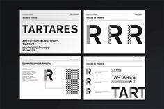 These are the branding guidelines with corporate typeface and graphic elements.