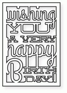 Papertrey Ink - Text Block: Birthday Die