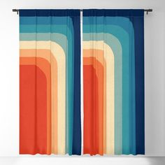 Retro Color Palette Iii Blackout Window Curtains & Drapes by Alisa Galitsyna - x - Set of Two