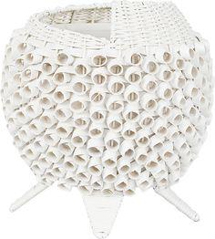 COLIN ratanová stolná lampa biela 5117