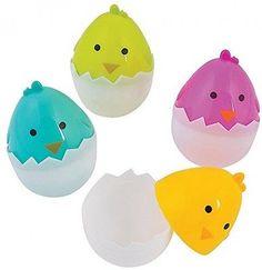Chick Easter Eggs 1 dozen Plastic Easter Eggs
