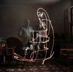 Pablo Picasso, a genius no matter the media.  (Not an installation per se, but definitely Art).