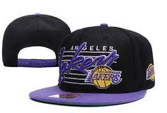 NBA LA Lakers Snapback Hats Caps NewEra Black 2551 only US$8.90