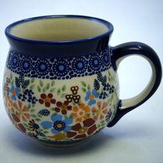 The Medium Belly Mug (Festive Flowers)