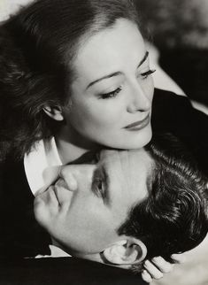 Joan Crawford and Spencer Tracy.
