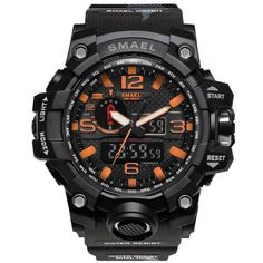 Quality SMAEL Brand Camouflage Fashion Digital Watch Men Sport Analog Quartz-Watch Swim LED Electronic Watches Mens Relogio Masculino with free worldwide shipping on AliExpress Mobile Army Watches, Big Watches, Watches For Men, Wrist Watches, Casual Watches, Analog Watches, Rugged Watches, S Shock Watch, Led Watch