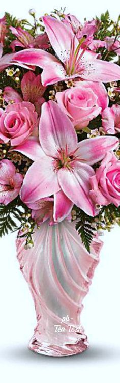 Pretty Pink Bouquet ✴ Téa Tosh Happy International Women`s Day!