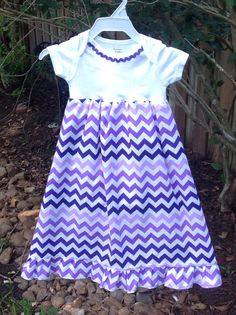Striking Purple Chevron Maxi Gameday Dress by ThePurpleFrogStore, $26.00
