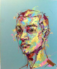 an ordinary person 15, acrylic on canvas, 53.0cm x 45.5, 2013