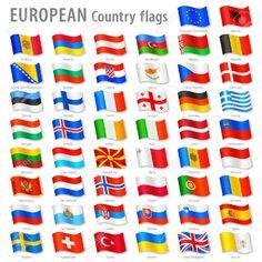 """Résultat de recherche d'images pour """"drapeaux européens avec noms"""""""
