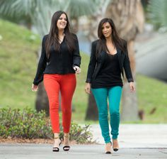 Christian Louboutin Un Bout 120mm, Kardashian Kollection Kim Skinny Twill Pants in Jade,