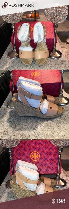 8f10d5bb6b6 BNIB TORY BURCH BIMA WEDGE ESPADRILLE BNIB TORY BURCH BIMA WEDGE ESPADRILLE  CALF LEATHER Color  NATURAL VACHETTA Tory Burch Shoes Wedges