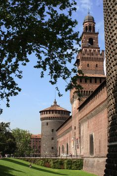 Sforza Castle, front facing the old city. Milano, province of Milan, Lombardy