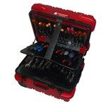 Premium Military Tool Case in Red with Hinged Pallet Set  #alltimetools #toolcase #toolcases #rollingtoolcase #protectyourtools