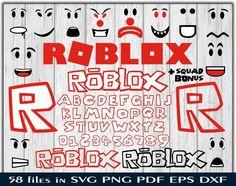 Roblox svg Roblox logo alphabet clipart Face font Roblox Evolution bundle silhouette stencil file cr