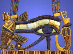 Egyptian eye of Horus necklace from the tomb of Tutankhamun King Tut Tomb, Ancient Egyptian Jewelry, Egyptian Eye, Egyptian Things, Egypt Art, Ancient Artifacts, Ancient Civilizations, Ancient History, Archaeology