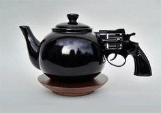 "traditional twist on classic Saatchi Online Artist Dennis Shields; Assemblage / Collage, ""Let's Talk It Over. Saatchi Online, Teapot Design, Ceramic Design, Find Objects, Cool Gadgets, Tea Set, Oeuvre D'art, Kitsch, Ceramic Sculptures"