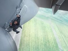 """Benji Dunn (Simon Pegg): """"Ethan? How did you get in the plane?"""" // Ethan Hunt (Tom Cruise): """"I'm not in the plane, I'm ON the plane! Open the door!"""" -- from Mission: Impossible: Rogue Nation (2015) directed by Christopher McQuarrie"""