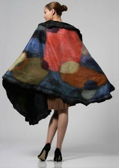 Lovely felted scarves....I would love to try making this someday.