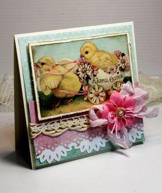 Easter Card Handmade Card Greeting Card 5.5 x 4.25 by CardInspired