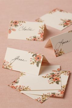 Rifle Paper co. placecards | BHLDN